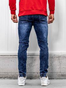 Tmavě modré pánské džínové jogger kalhoty Bolf HY621
