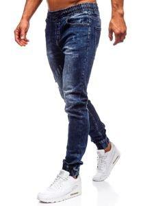 Tmavě modré pánské džínové jogger kalhoty Bolf KA606