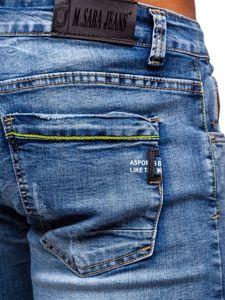 Tmavě modré pánské džínové kraťasy Bolf KG3801