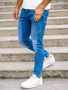 Tmavě modré pánské džíny skinny fit Bolf KX392