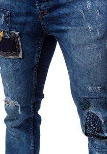 Tmavě modré pánské džíny slim fit Bolf 302