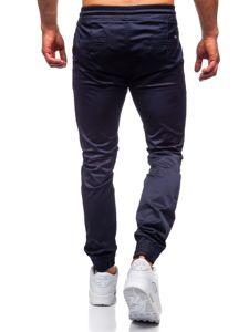 Tmavě modré pánské jogger kalhoty Bolf KA1005
