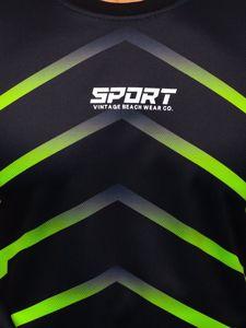 Tmavě modré pánské sportovní tričko s potiskem Bolf KS2063