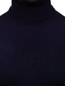 Tmavě modrý pánský rolák bez potisku Bolf YY02
