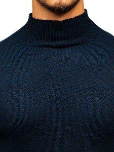 Tmavě modrý pánský svetr Bolf H1801