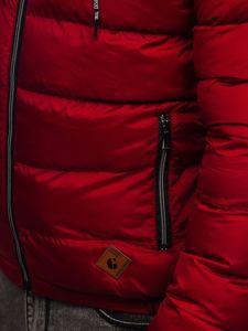 Vínová pánská prošívaná sportovní zimní bunda Bolf 50A199