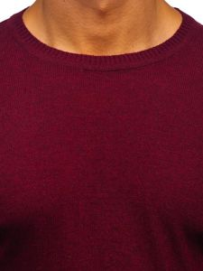 Vínový pánský svetr Bolf 0002