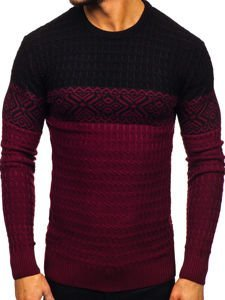 Vínový pánský svetr Bolf 309