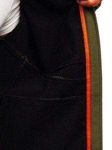Zelená pánská softshellová přechodová bunda Bolf 5425