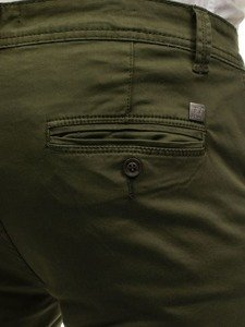 Zelené pánské chino kalhoty Bolf 6807