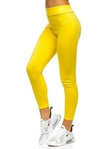 Žluté dámské legíny Bolf YW01058