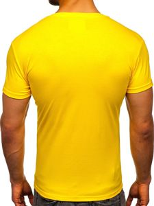Žluté tričko bez potisku Bolf 2005