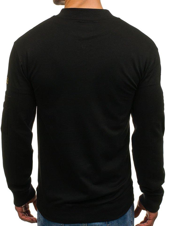 Pánská černá mikina bez kapuce Bolf 0733 772a19c515