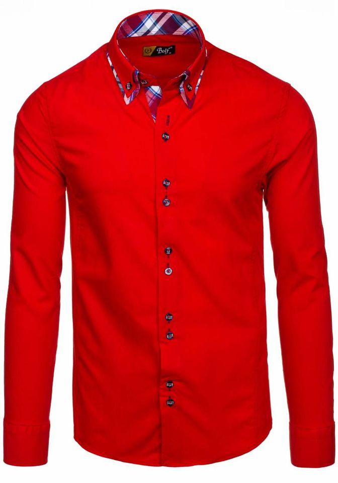 Pánská košile BOLF 4704 červená 522dce75cc