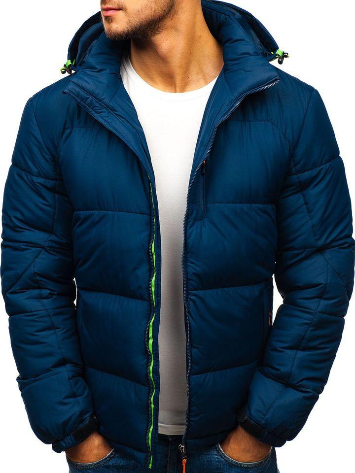 Tmavě modrá pánská sportovní zimní bunda Bolf AB71 ff33cd98fb9