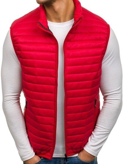 Červená pánská vesta bez kapuce Bolf 5174