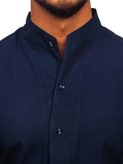 Pánská košile BOLF 5702 tmavě modrá
