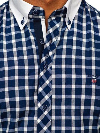 Pánská košile BOLF 5737 tmavě modrá